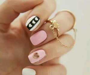 cute nails love heart image