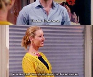 comedy, F.R.I.E.N.D.S., and phoebe buffay image