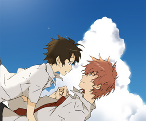 anime, couple, and the girl who leapt through time image