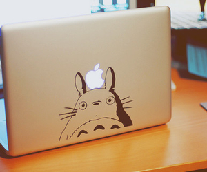 totoro, cute, and apple image