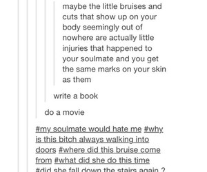 funny, tumblr, and soulmates image