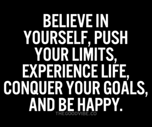 happy and believe in yourself image