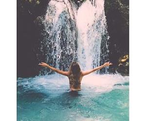 bikini, long hair, and summer image