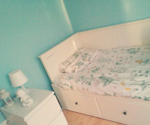 bed, ikea, and hemnes image