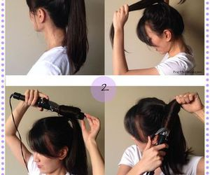 curl, curly, and hairstyle image