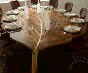 table, leaf, and home image