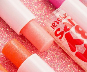 pink, makeup, and baby lips image