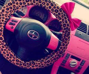 pink, car, and girly image