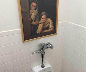 paintings, toilet, and humor image
