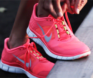 nike, pink, and run image