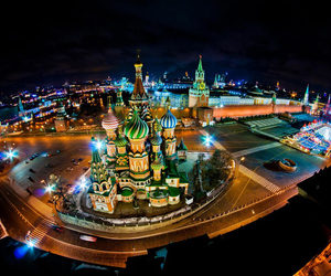 moscow, night, and russia image