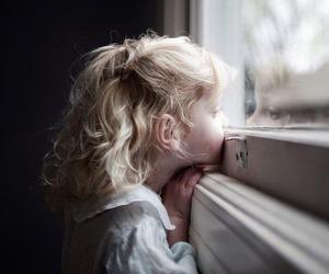 girl, window, and child image