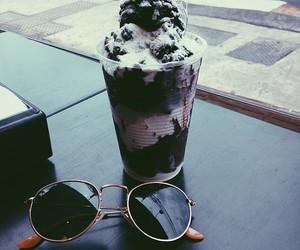 food, ice cream, and sunglasses image