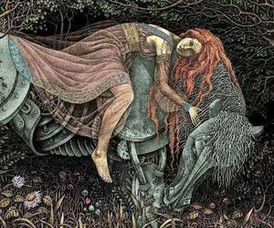 drawing, forest, and fairy tales image