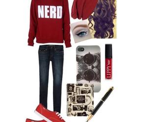 beanie, fashion, and nerd image