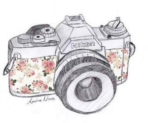 camera, nikon, and flowers image