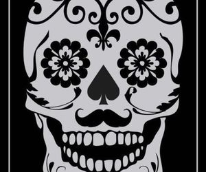 death, designs, and skull image