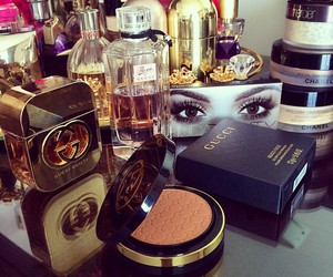 makeup, gucci, and perfume image