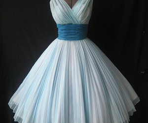 dress, blue, and vintage image