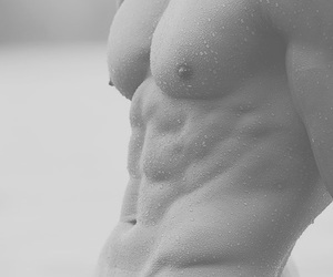 black and white, body, and boy image