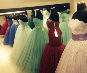 colours, different, and dresses image