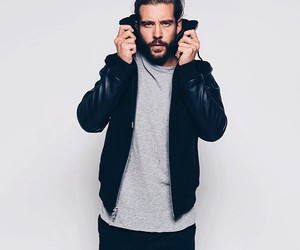 bearded, chic, and model image