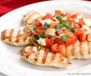 Chicken, food, and tomato image