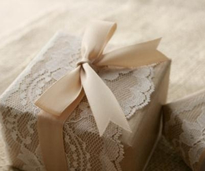 gift, lace, and bow image