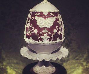 cake, faberge egg, and food image