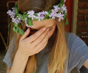 tumblr, flowers, and flower crown image