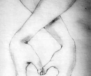 drawing, love, and hands image