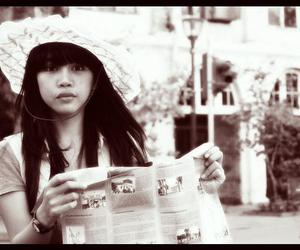girl, jakarta, and old picture image