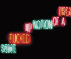 neon, light, and quote image