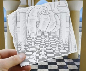 chess, drawing, and art image