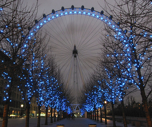 light, blue, and london image