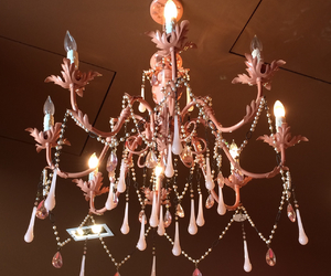pink and chandelier image