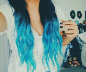blue, ombre, and woow image