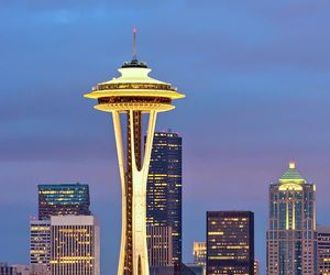 seattle and Space Needle image