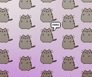 wallpaper, cat, and pusheen image
