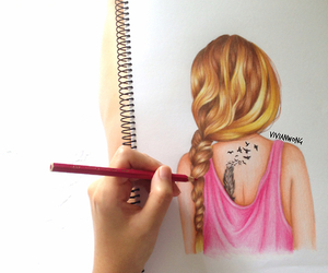 art, blonde, and stay strong image