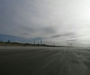 beach, cold, and winter image