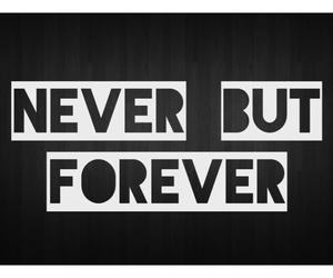 forever, mine, and never image
