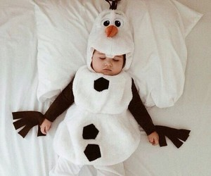 baby, olaf, and frozen image
