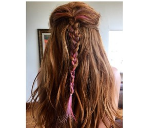 braid, hair, and red image