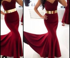 dress, red, and gold image