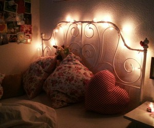 bed, romantic, and love image