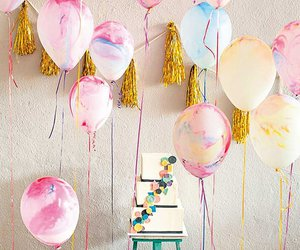 balloons, party, and cake image