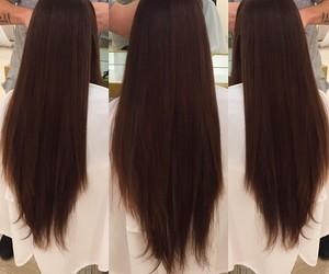 brown hair and long hair image