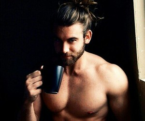 Hot, boy, and coffee image