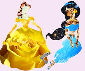 disney, belle, and jasmine image